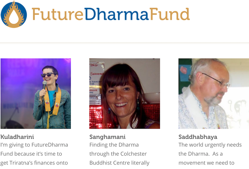 Hello to all the lovely people who give to FutureDharma Fund!